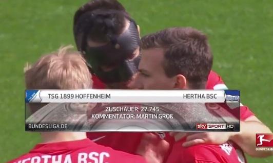 ไฮไลท์ฟุตบอล บุนเดสลีกา ฮอฟเฟ่นไฮม์ 2-1 แฮร์ธ่า เบอร์ลิน